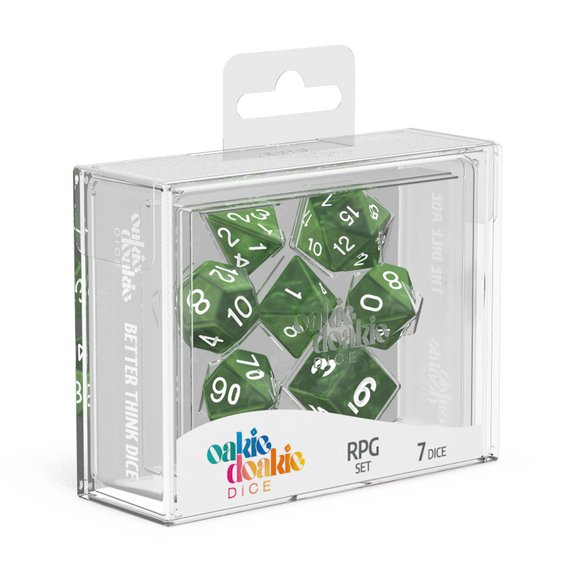 Oakie Doakie Dice RPG Set Marble Green