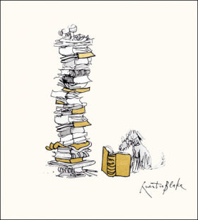 Card - Classic Dog Reading (Quentin Blake)