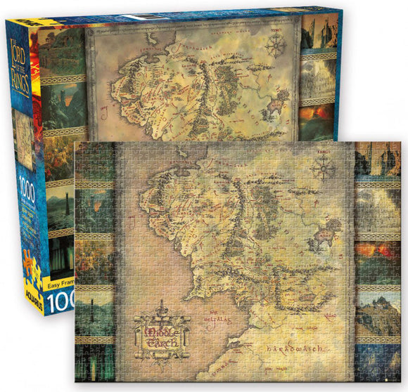 The Lord of the Rings Middle Earth Map Puzzle 1000 pcs