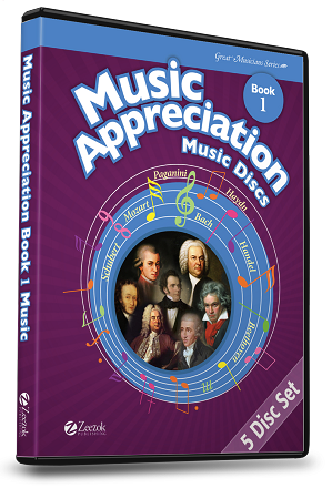Music Appreciation for the Elementary Grades Music Discs 5 CDs