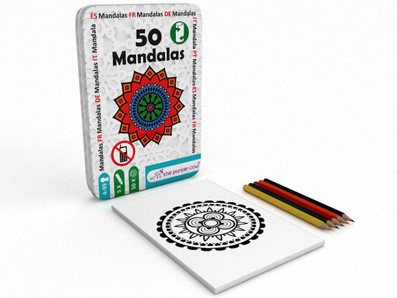 50 Mandalas Colouring In