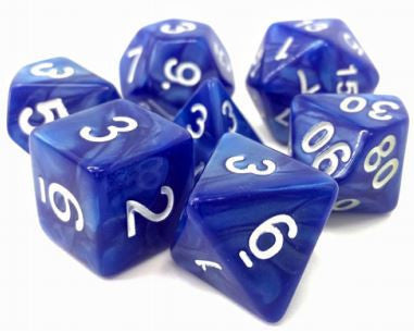 Tmg Dice Blue Pearl Opaque (Set Of 7)