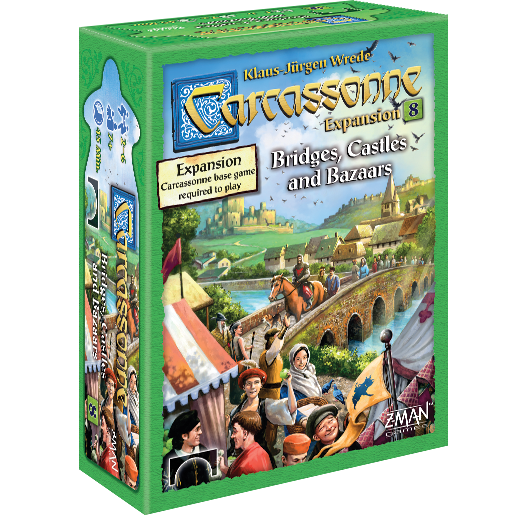 Carcassonne #8 Bridges Castles Bazaar Expansion