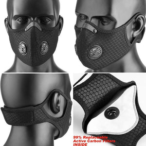 Dust Face Mask - Great For Cycling Jogging Running Mowing Or Other Outdoor Activities