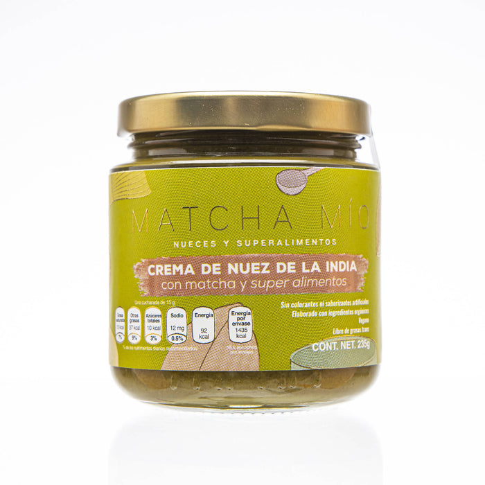 Crema de Nuez de la India + Superfoods + Matcha