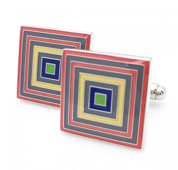 Rainbow Cufflinks / Money Clip