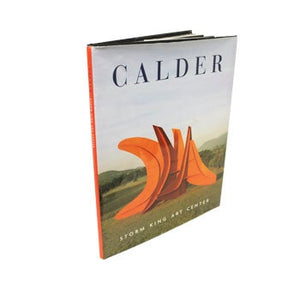 Book cover with Calder 7 Swords in Storm King Art Center landscape.