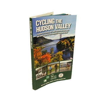 Softcover with images of cycling Hudson Valley.