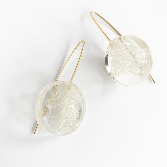 Eco-Resin: Loofah Accents Earrings / Bracelet