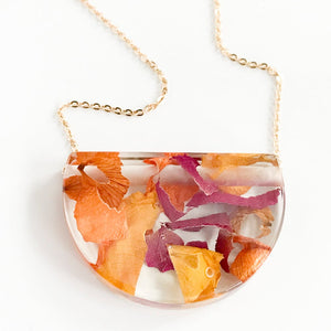 Eco-Resin: Rose Petal Necklace / Earrings
