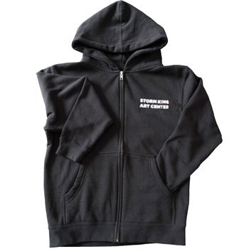 Storm King Art Center Youth Black Zip Hoodie