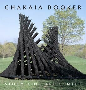 Book cover with photograph of Chakaia Booker sculpture.