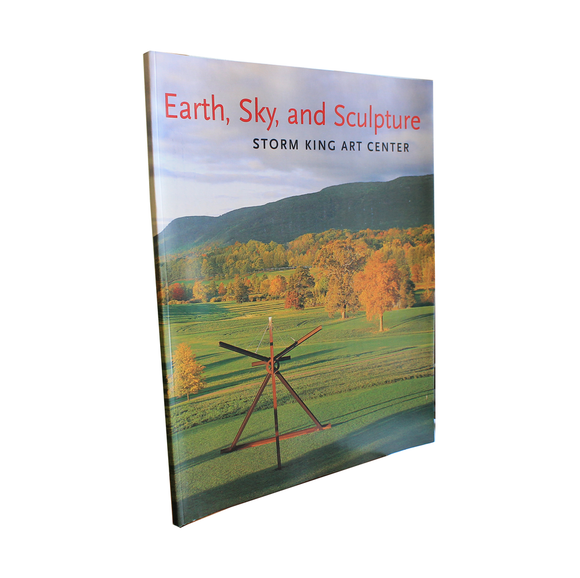 Softcover book containing three personal essays about Storm King Art Center. Sculpture photo on cover.