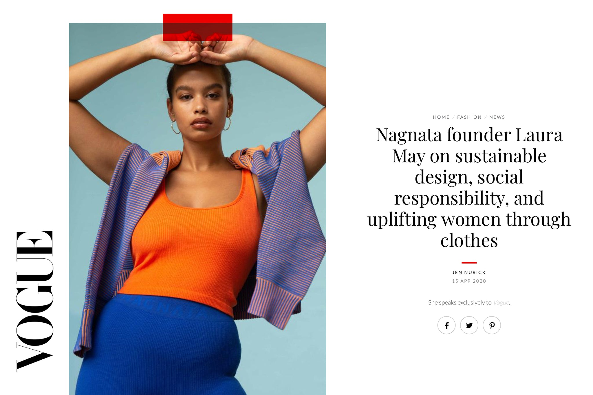 NAGNATA WINS THE WESTPAC PRIVATE BANK EMERGING FASHION DESIGNER AWARD 2020