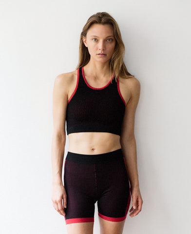 POINTELLE RACER CROP TOP