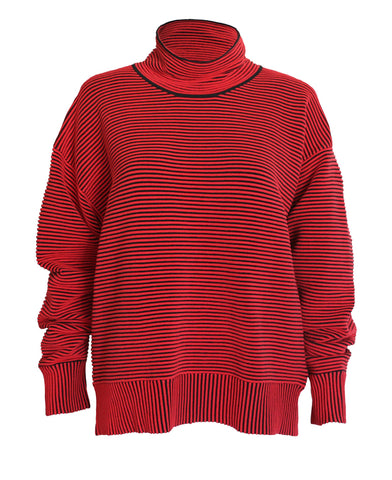 HI-NECK RIB SWEATER