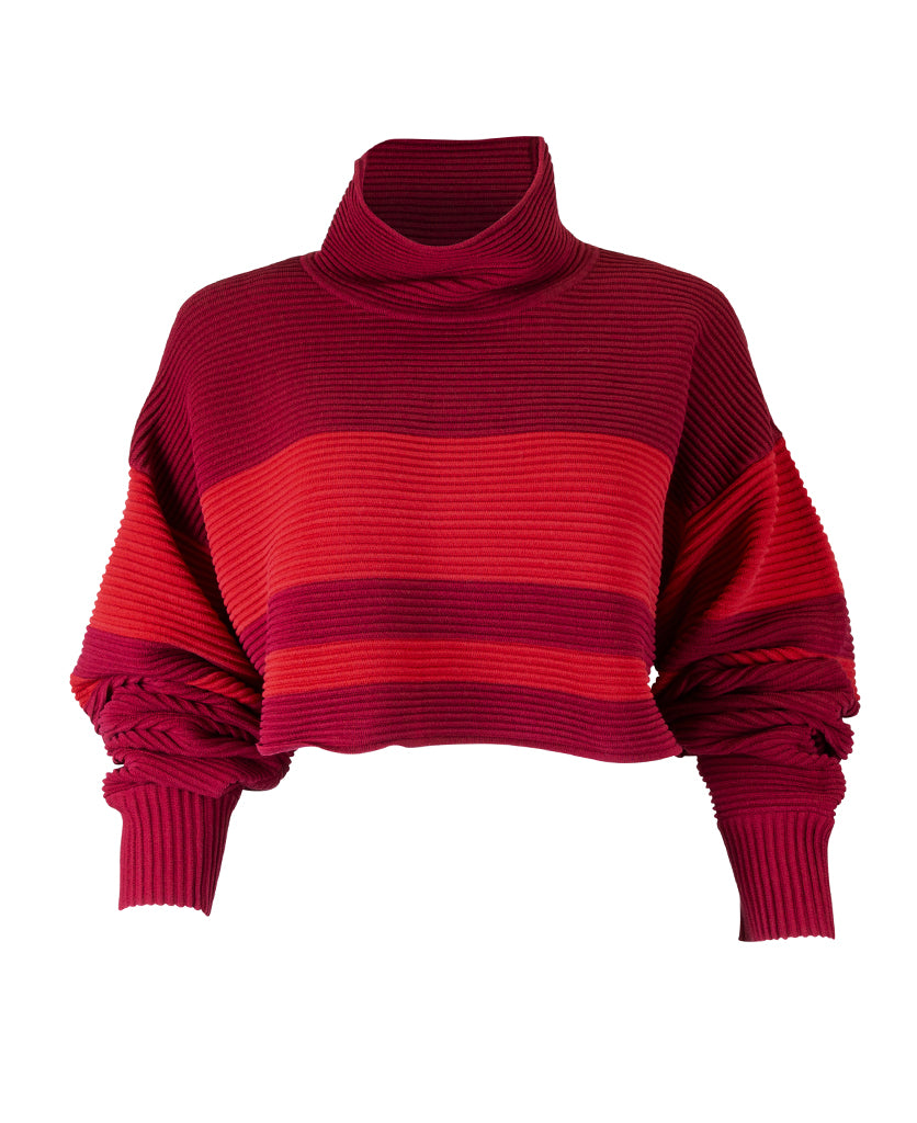 CROPPED RETRO RIB SWEATER