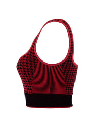 HOUNDSTOOTH T-BAR CROP