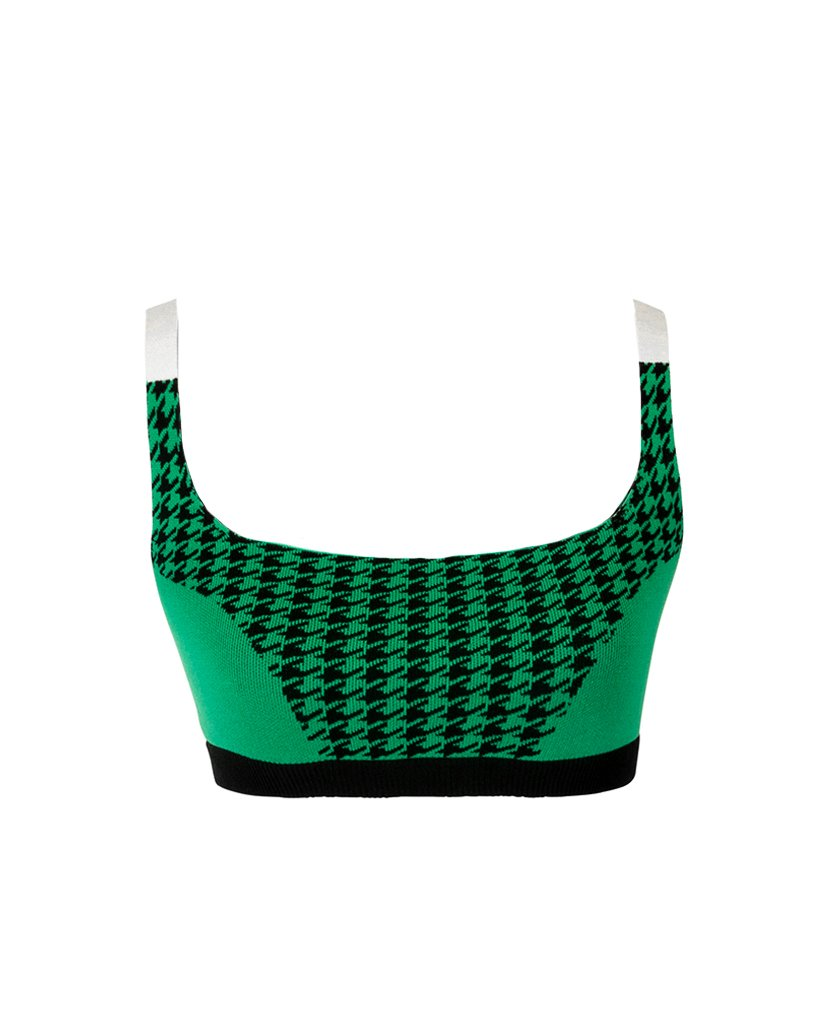 COLOUR BLOCK BRALET HOUNDSTOOTH