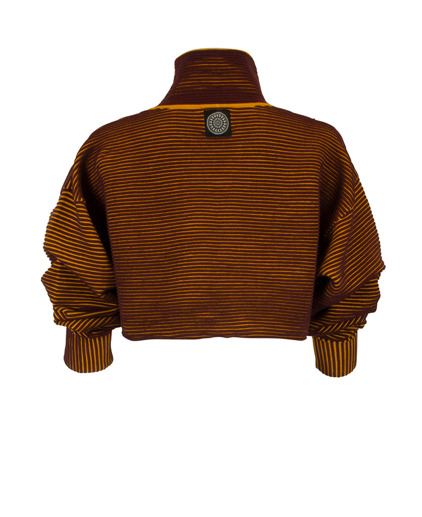 CROPPED RIB SWEATER