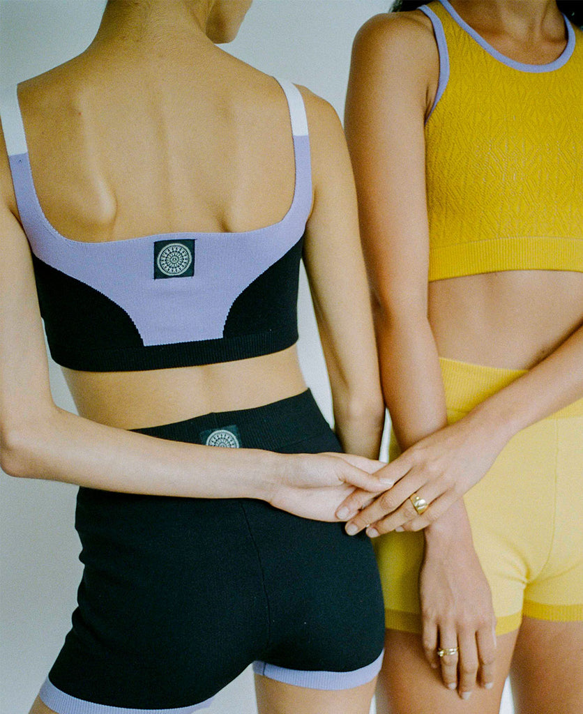 POINTELLE RACER BACK CROP