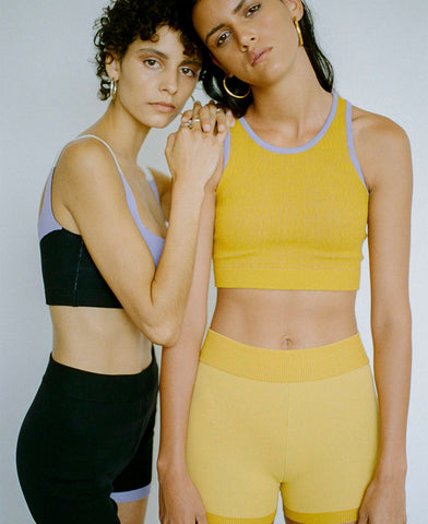 POINTELLE RACER CROP TOP ORGANIC COTTON