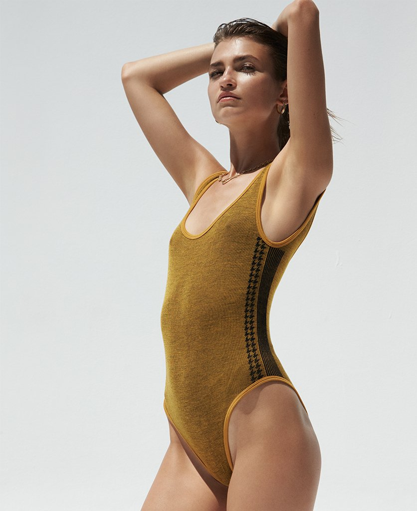 NAMI SIDE STRIPE LEOTARD