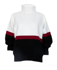 COLOUR BLOCK RIB SWEATER