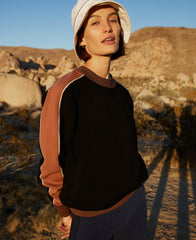 MERINO COLOUR BLOCK CREW