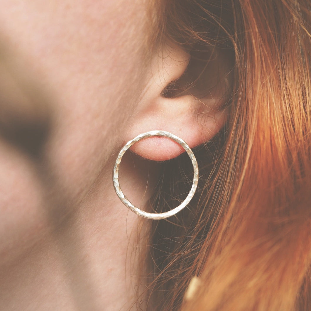 Dimpled Circle Earrings