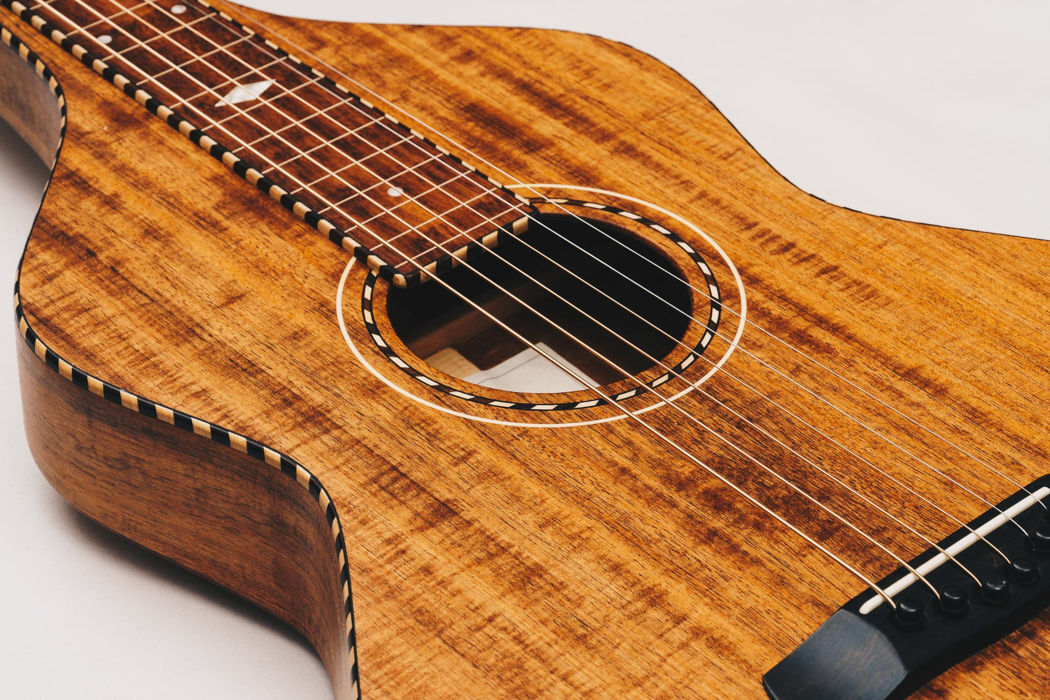 Weissenborn Guitar - Style 3 - Figured Tasmanian Blackwood