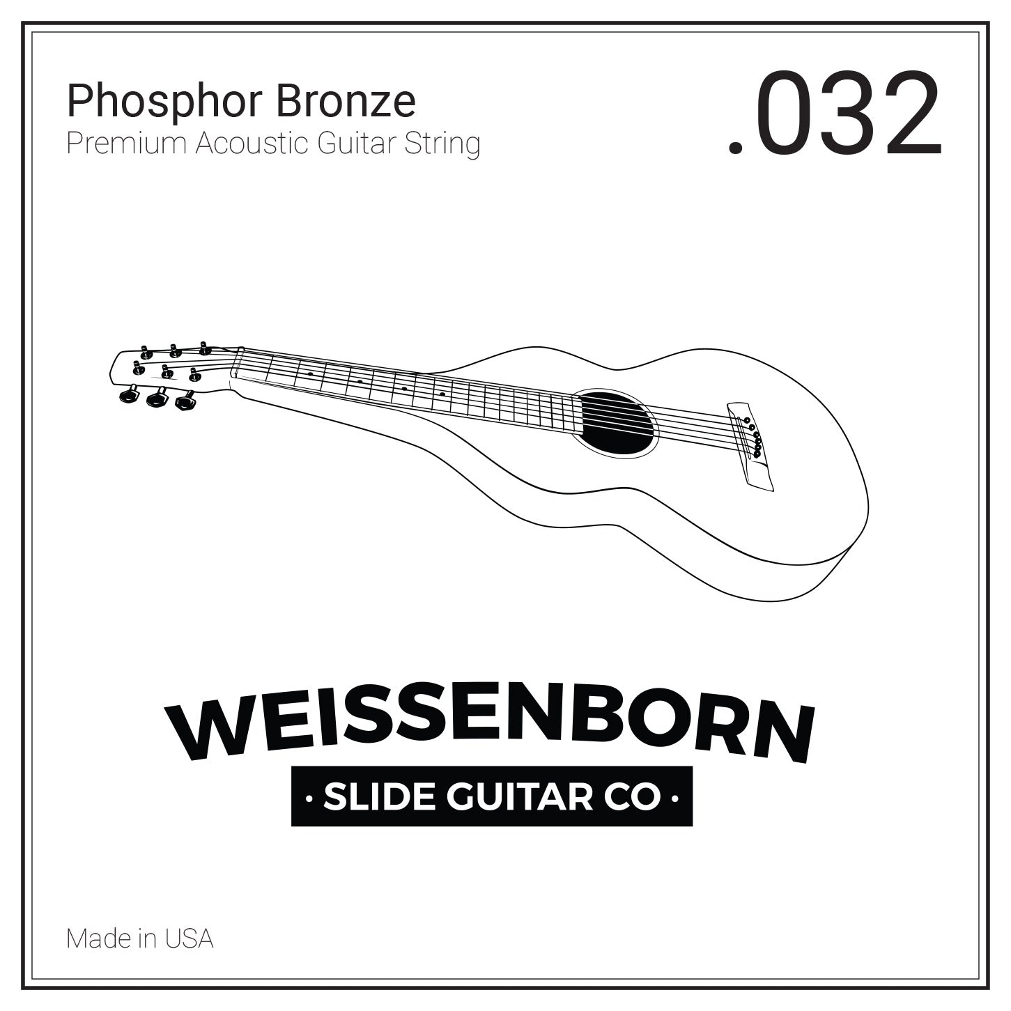 Premium Phosphor Bronze .32w for DADDAD tuning