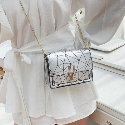 Shoulder Bag with Gold Chain Strap