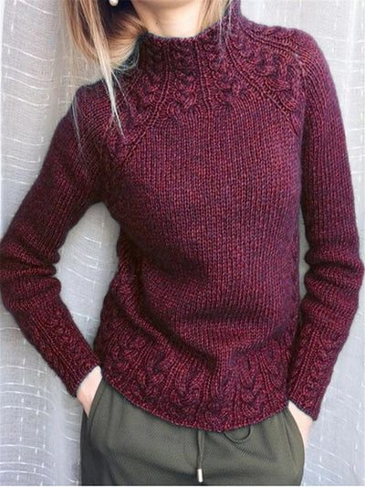 Luxury Long Sleeved Knitted Sweater