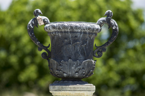 Pair of Antique English Lead Urns