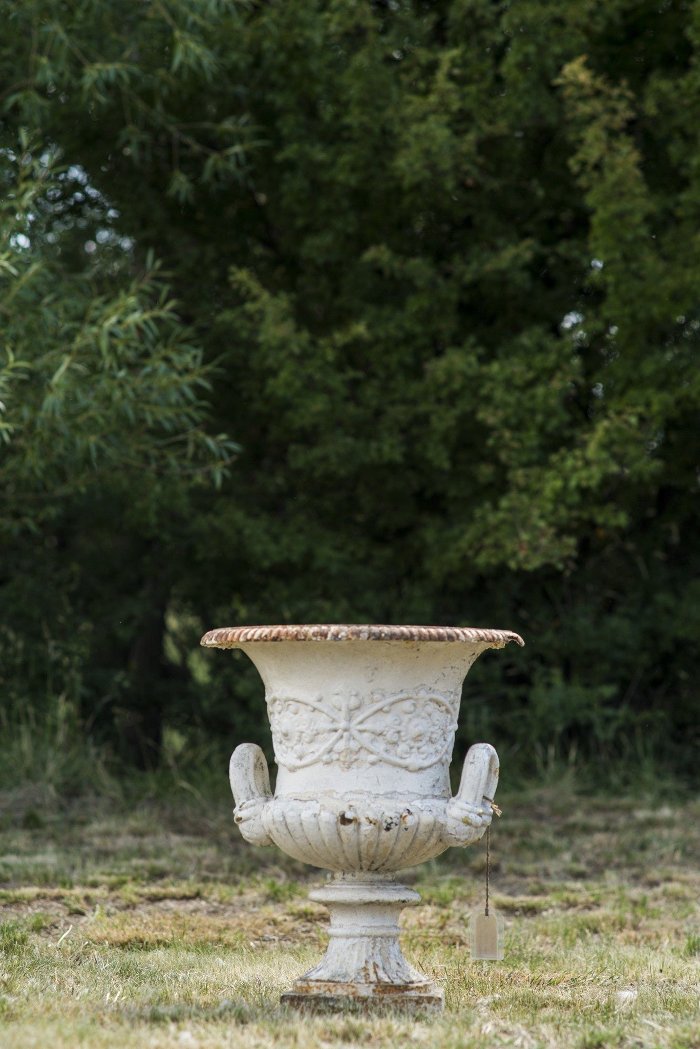 Large Cast Iron Regency Urn