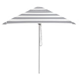 Basil Bangs 2M Square Striped Umbrella in Cadet (Grey/White)