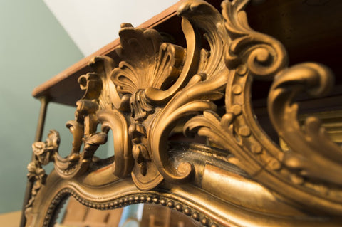 French Gilt Over Mantle Mirror