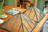Antique English Cast Iron Pendant Lights