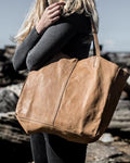 Leather Tote Natural