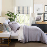 Tulip Lace Grey Queen Coverlet Set