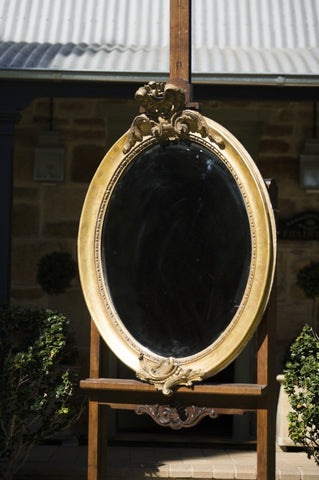 Antique English Oval Mirror