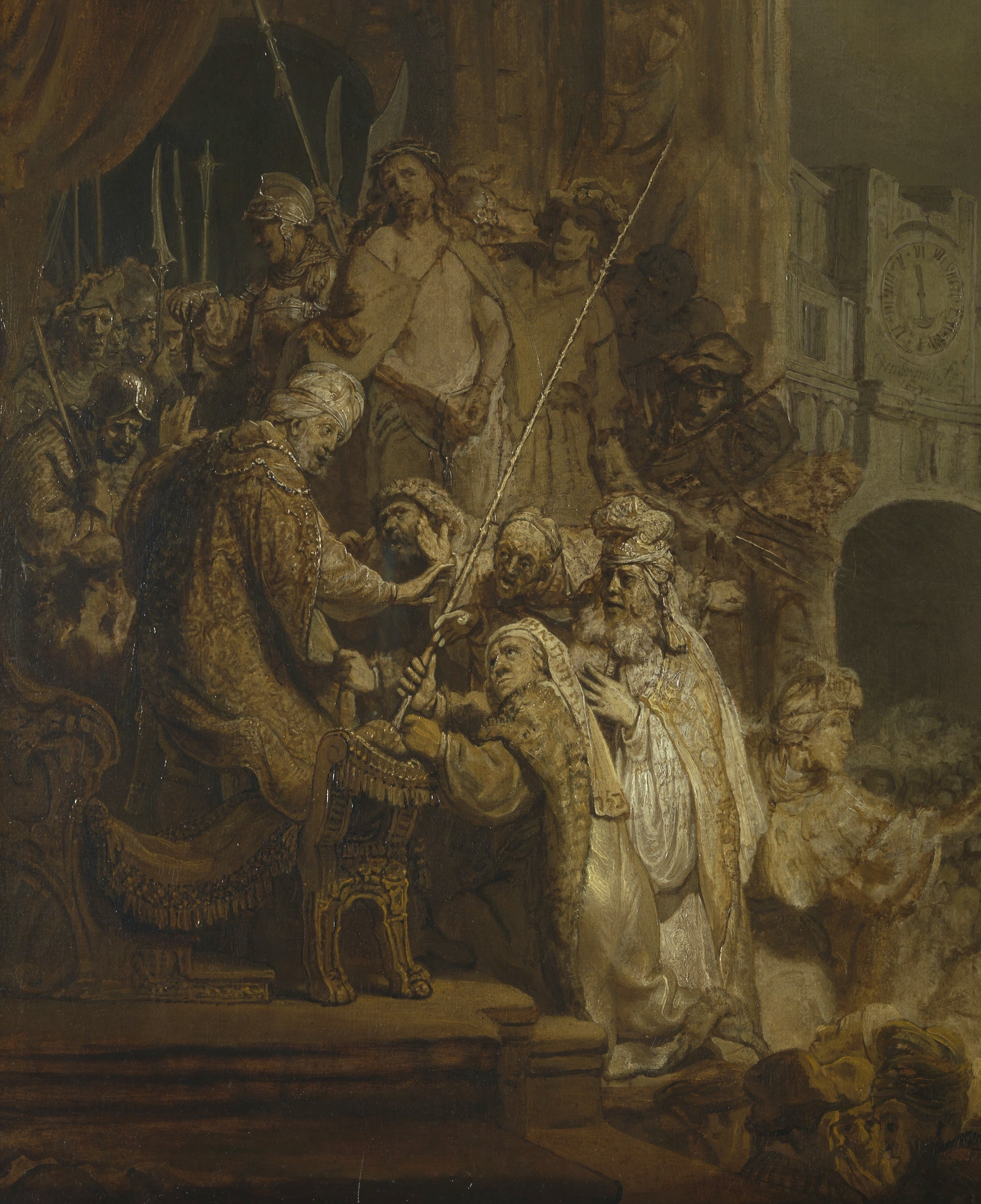 Detail from Ecce Homo, by Rembrandt, 1634