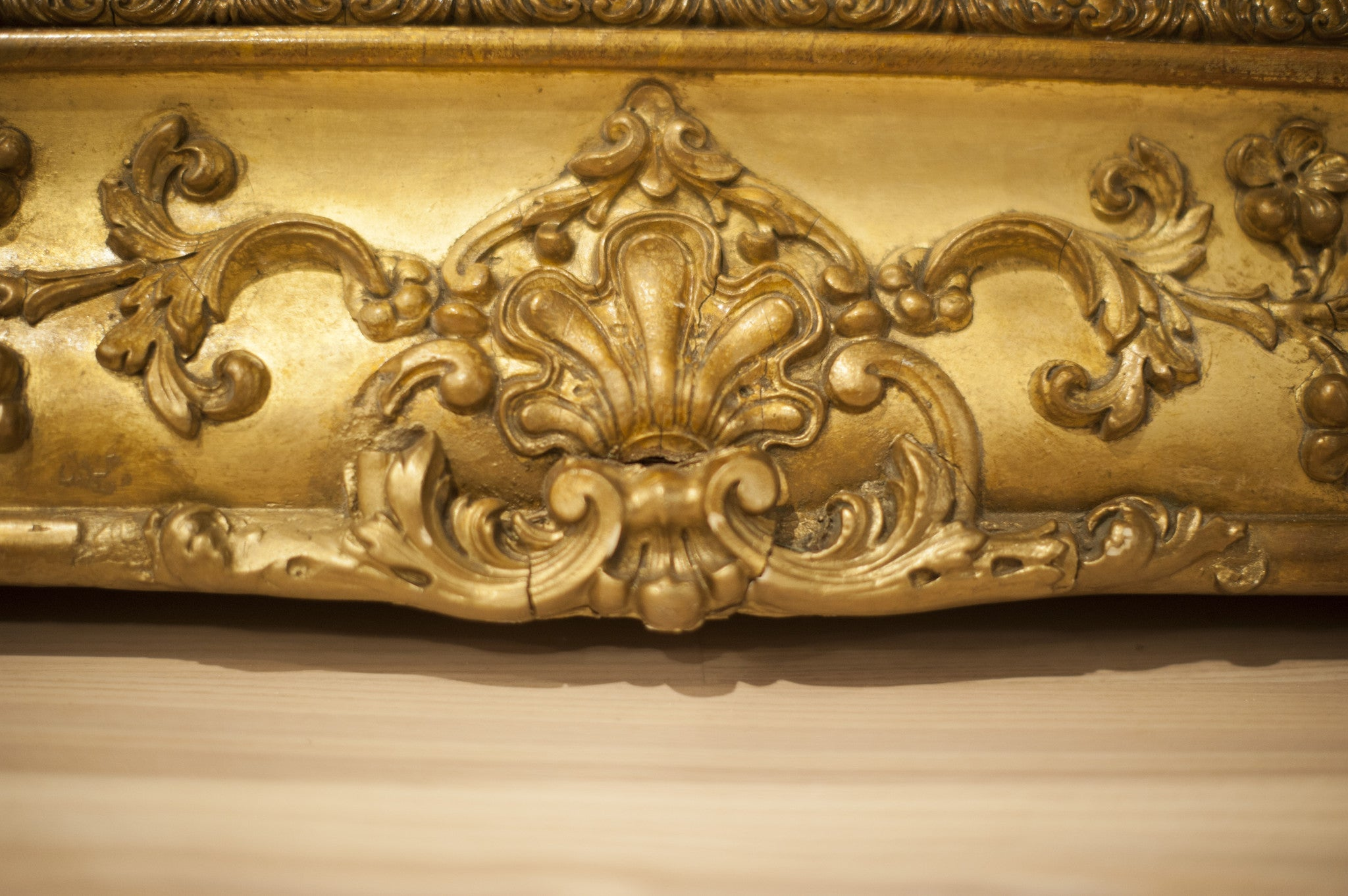 Large French Empire gilt surround mirror