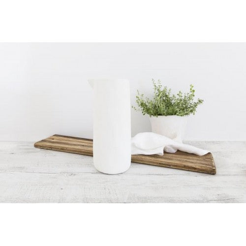 Ceramic Handleless Jug 30cm in Cream