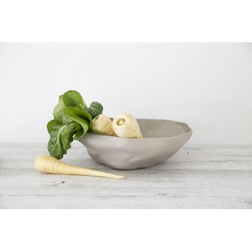 Ceramic Fruit Bowl 35cm in Grey