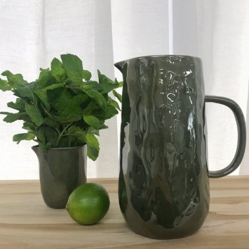 Flax Green Glazed Jug