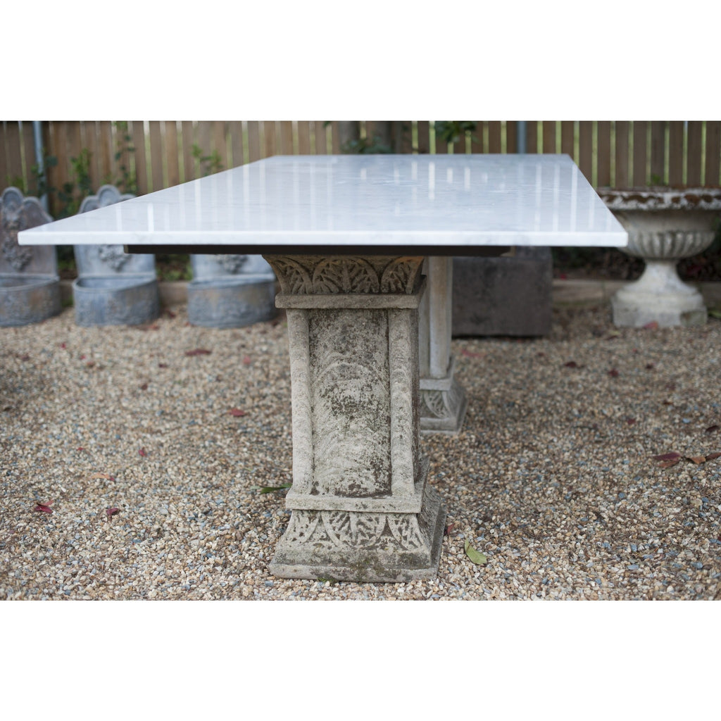 Carved Stone & Marble Table
