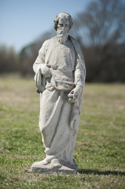 Hand-Carved Limestone Statue