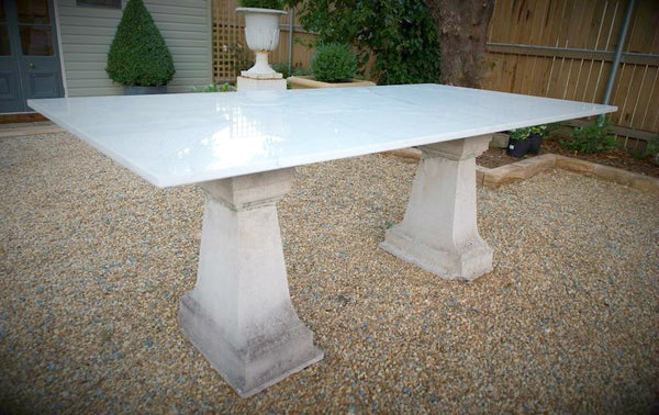 Portland Stone and Marble Table